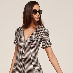 Reformation Dolce Dress in Checkers BNWT